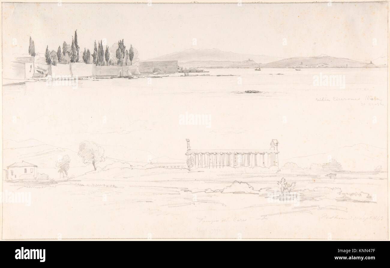 hight resolution of studies of the villa cicerone at the lago lucrino near naples and of the temple at