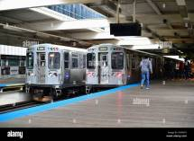 Cta Brown Line Rapid Transit Stock &