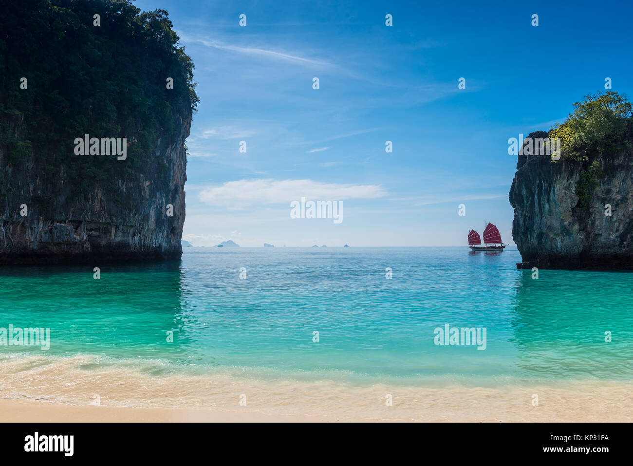 Beautiful Bay Of Hong Island In Thailand In A Teristic Place