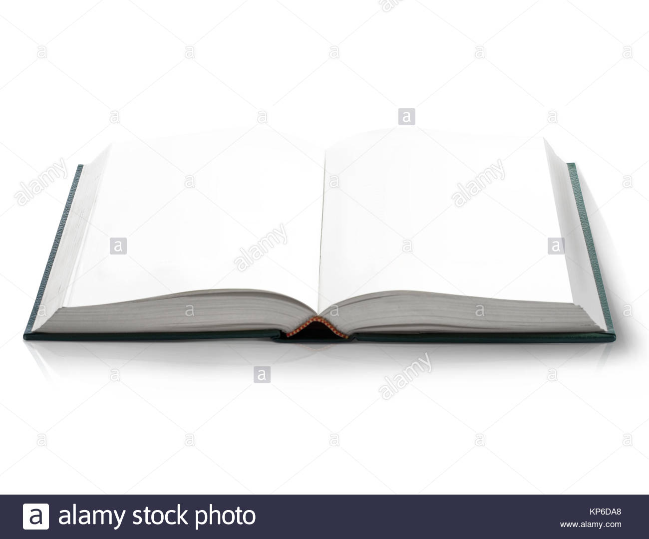 Open Book With Empty Blank Pages, Viewed By Bird Eye Perspective. - Stock  Image