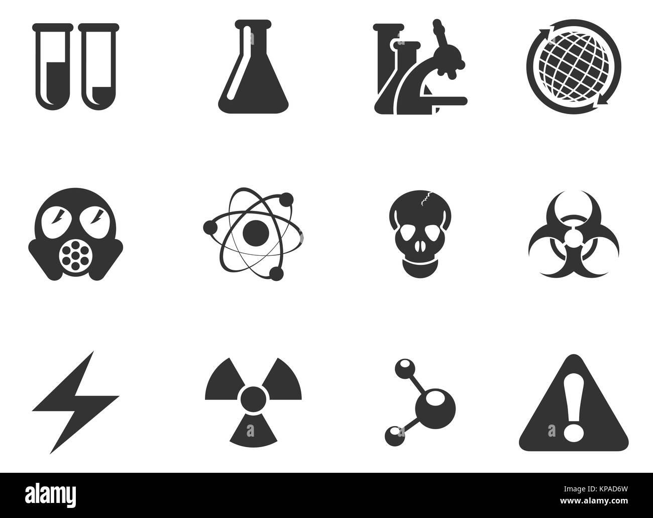 science symbols microscope stock