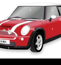 mini cooper car illustration of the mini car in vector format  [ 1300 x 890 Pixel ]