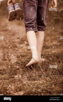Person Walking Barefoot
