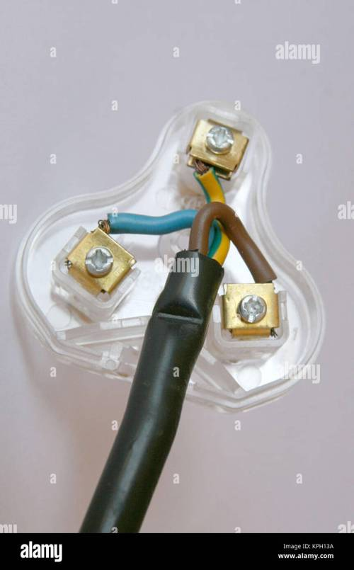 small resolution of close up an open electric 3 pin plug showing correct wiring south africa