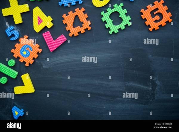 Chalkboard Science Symbols Stock &