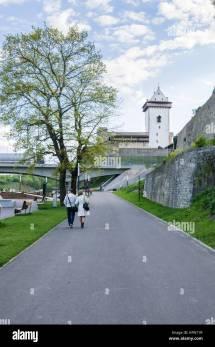 Border Narva Estonia Ivangorod Stock &