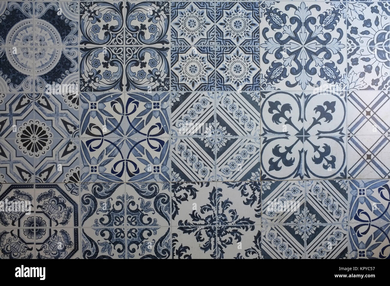 Traditional Vintage Ceramic Tiles Of Portugal Design Stock Photo Alamy