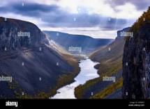 Sautso Alta Canyon Finnmark Norway Stock