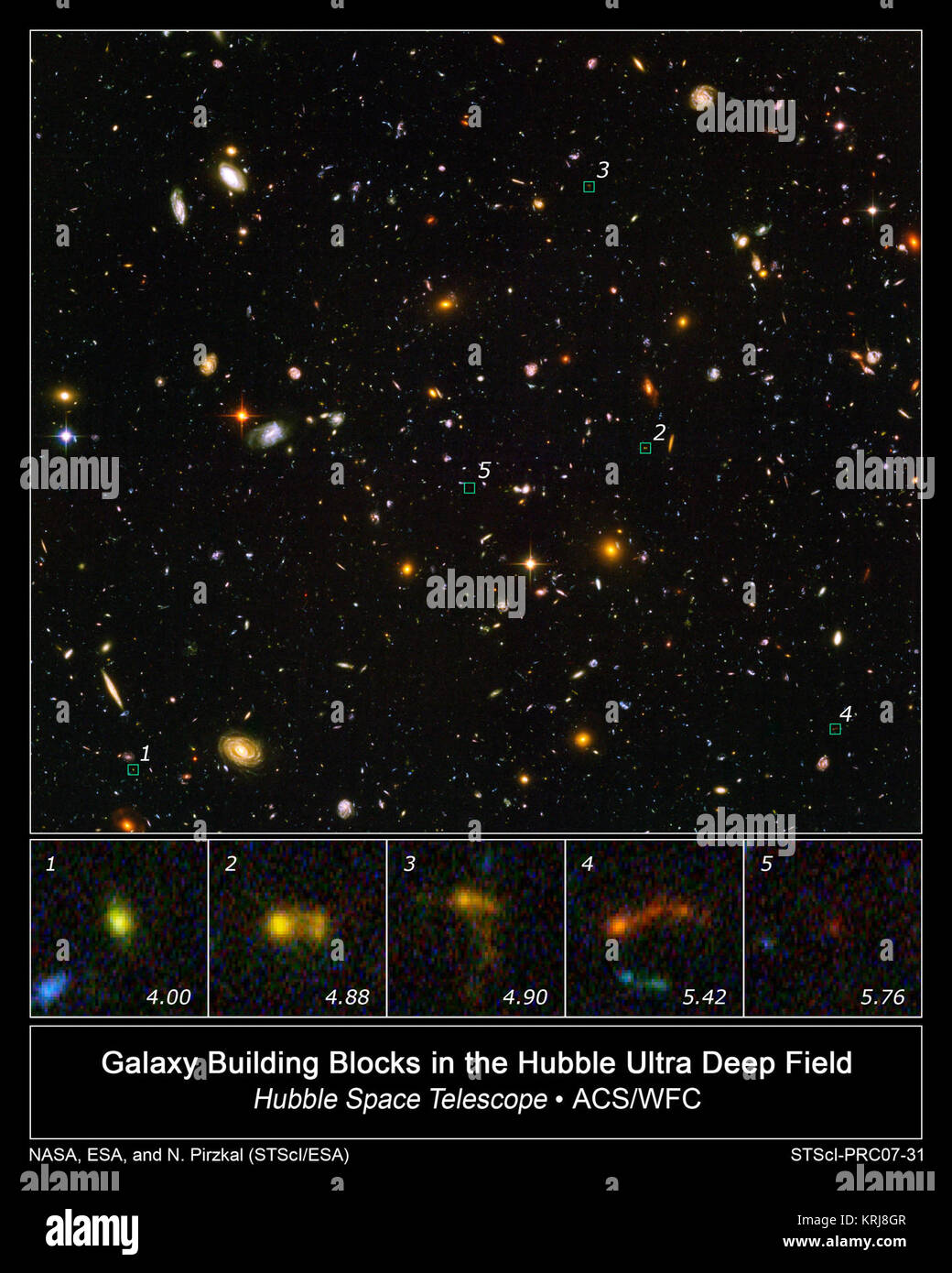 hubble deep field stock