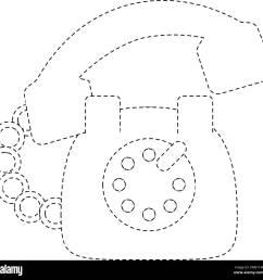 vintage telephone symbol stock image [ 1300 x 1278 Pixel ]