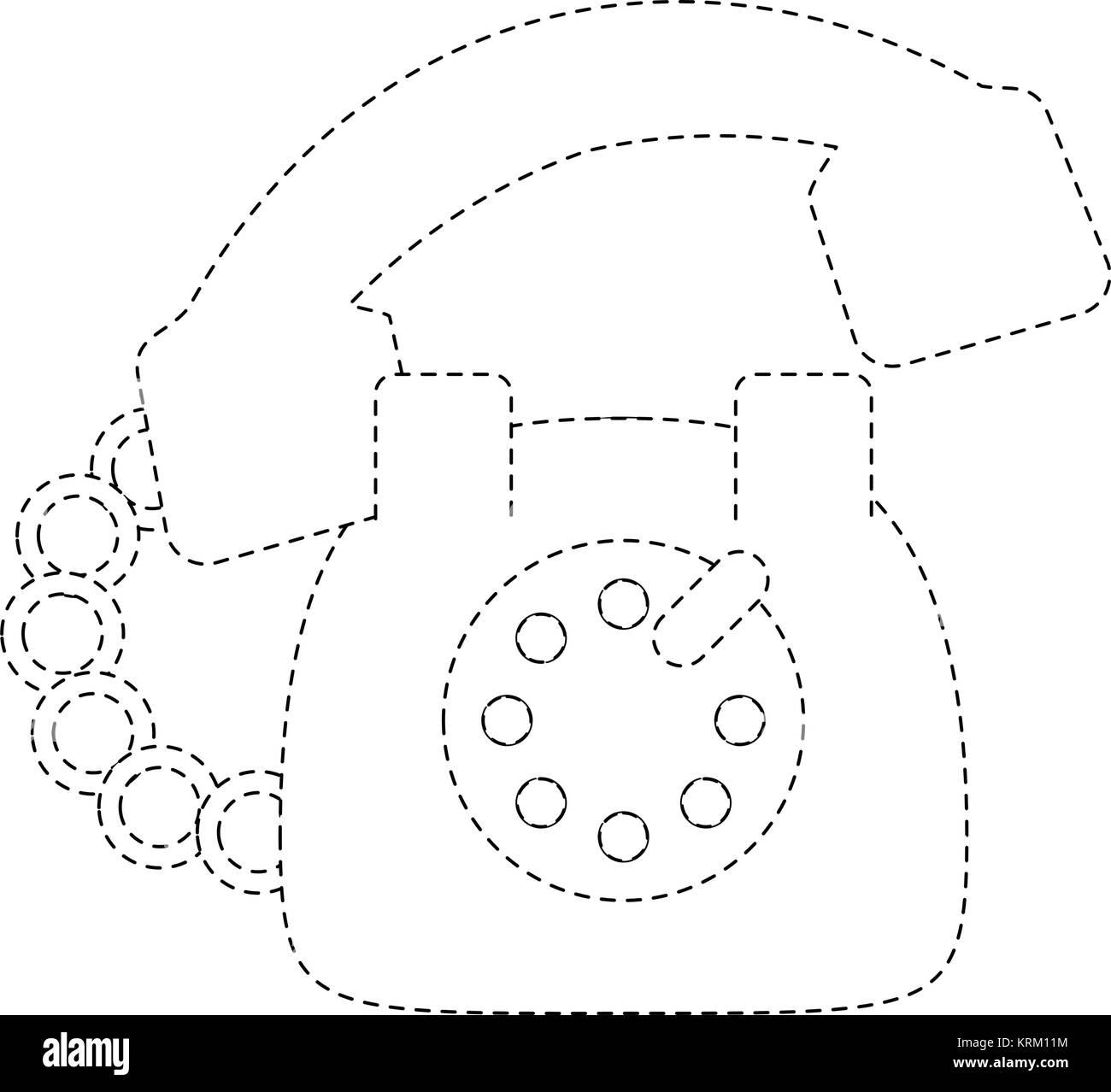 hight resolution of vintage telephone symbol stock image