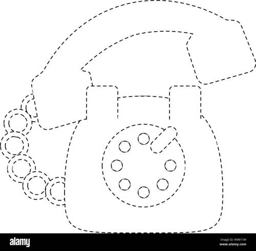 small resolution of vintage telephone symbol stock image