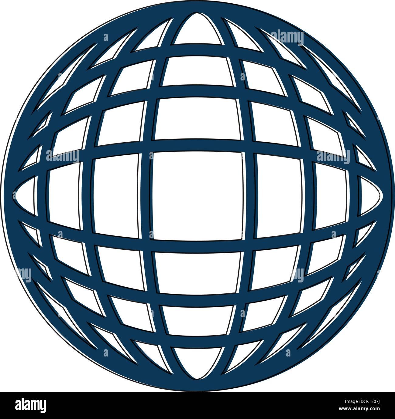 hight resolution of earth globe diagram icon image vector illustration design stock image