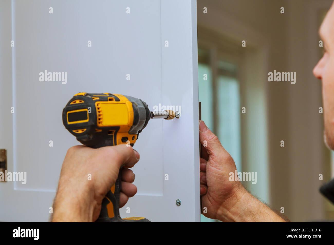 Handyman Installation Of Door Handles On Kitchen Cabinets Fixing