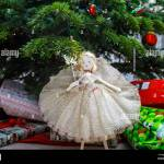 Traditional Christmas Tree Fairy Made By Tobias The Angel With Stock Photo Alamy