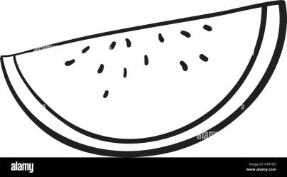 detalied illustration of watermelon slice on white background Stock Vector Image & Art Alamy