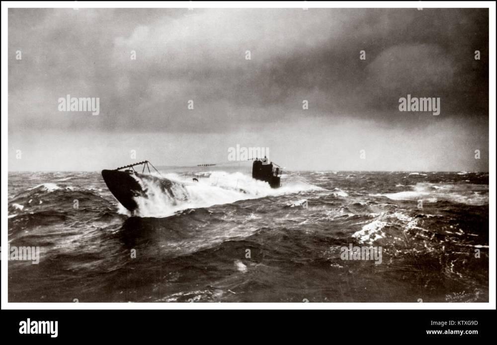 medium resolution of ww1 german submarine u boat north atlantic surfacing during u boat campaign 1914