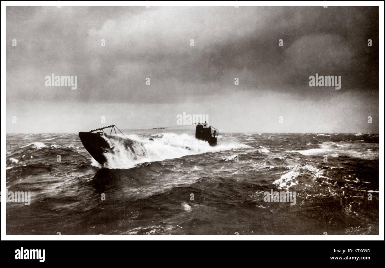 hight resolution of ww1 german submarine u boat north atlantic surfacing during u boat campaign 1914