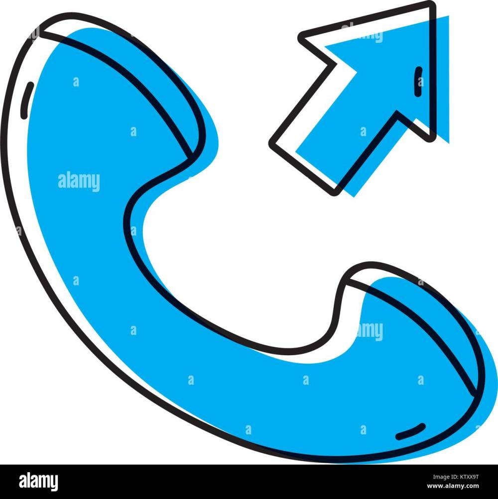 medium resolution of color phone call received sign telephone icon
