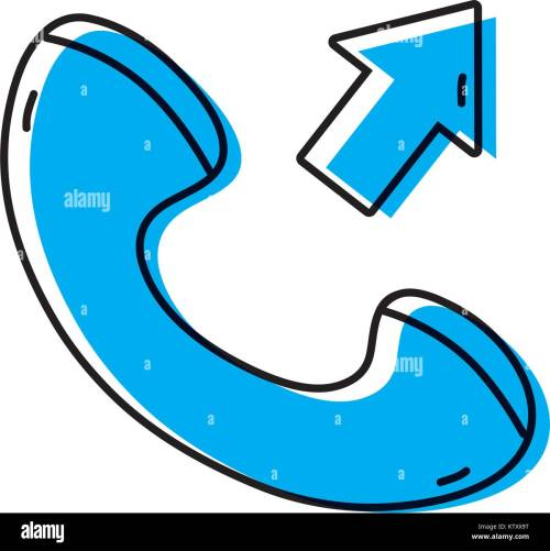 small resolution of color phone call received sign telephone icon