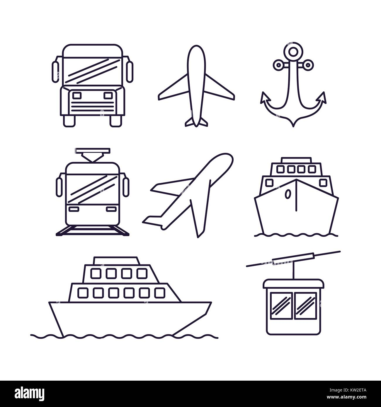 Means Of Transport Cut Out Stock Images Amp Pictures