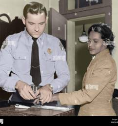 rosa parks is finger printed by deputy sheriff d h lackey in montgomery alabama  [ 1300 x 1123 Pixel ]