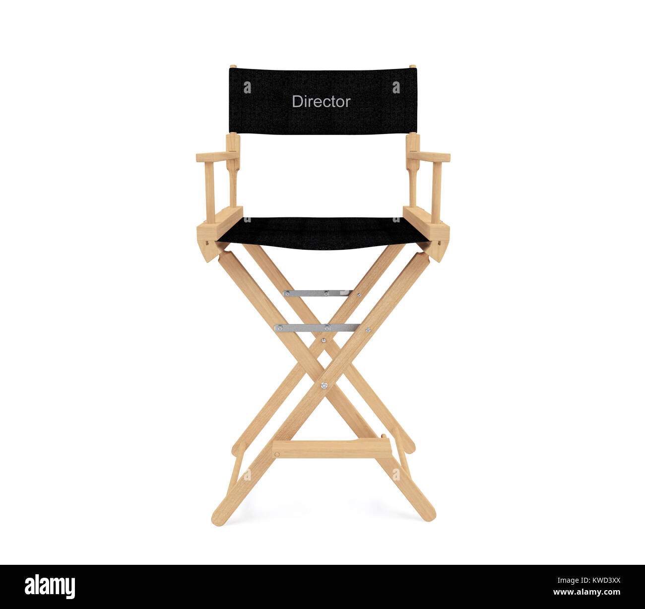 directors chair white modern orange leather dining director s isolated on background 3d rendering stock