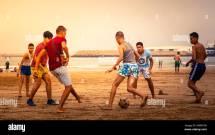 Teenage Boy Playing Soccer