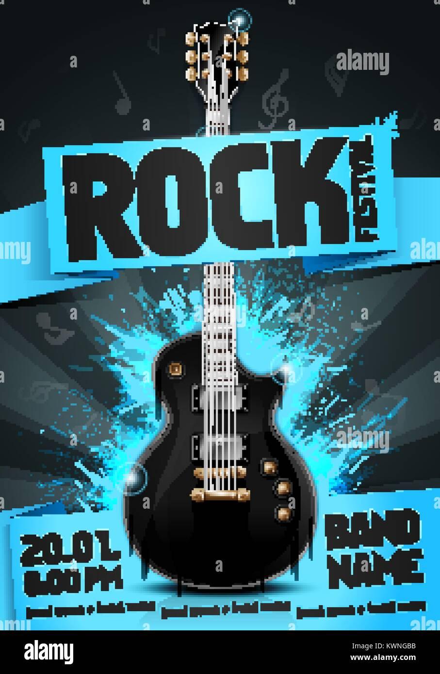 vector illustration blue rock