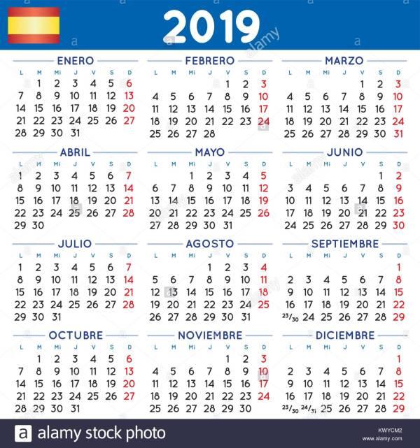 July 2019 Calendar Stock Photos July 2019 Calendar Stock