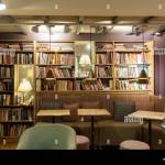 Book Store And Coffee Shop Together Interior Design Of Cafe Stock Photo Alamy