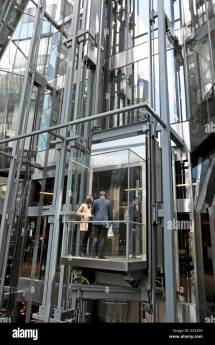 Glass Elevator Exterior Stock &