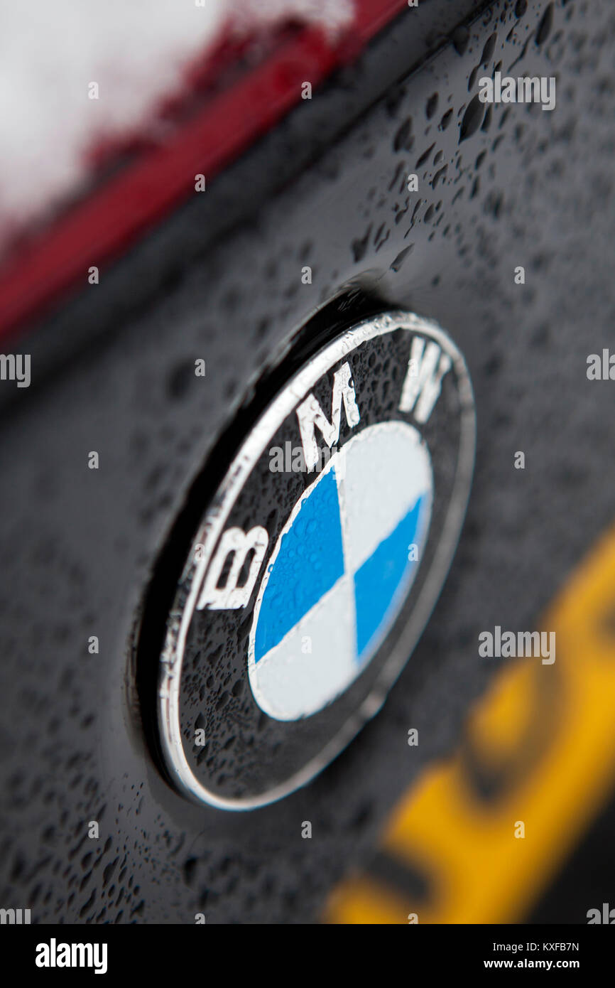 Bmw M4 Logo : Badge, Close, Detail, Black, Convertible, Stock, Photo, Alamy