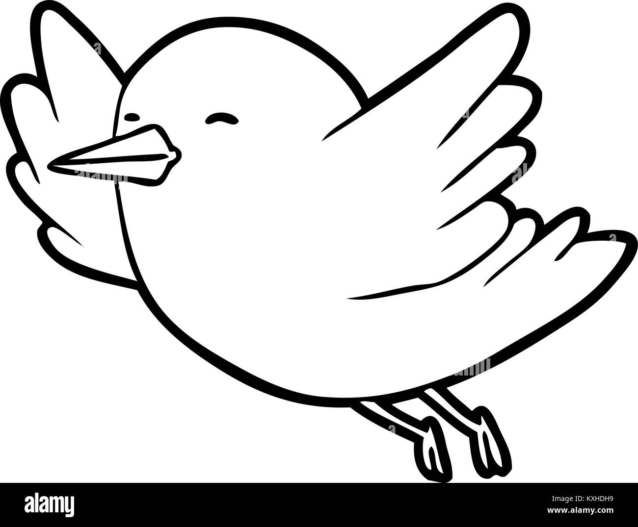 Line Drawing Of A Bird Flying Stock Vector Image Art Alamy