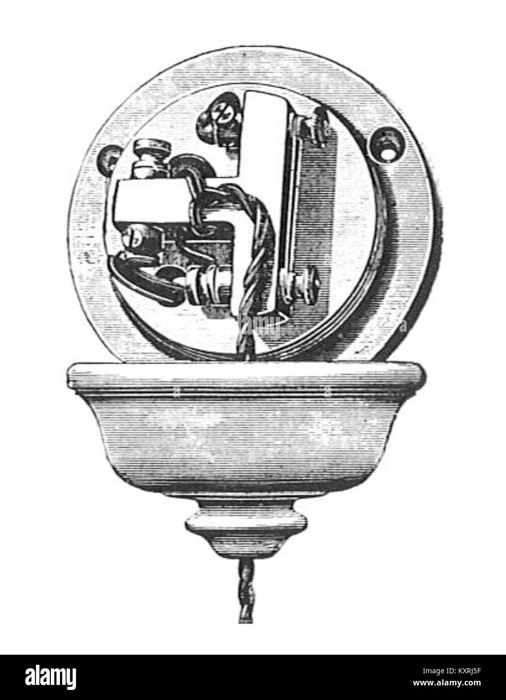 hight resolution of ceiling rose with fuse 1890 forty years of electrical progress stock