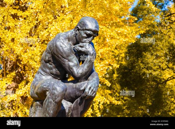 Thinker Rodin Park Stock &