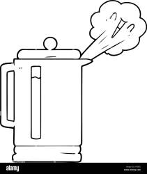 Cartoon Boiling Kettle High Resolution Stock Photography and Images Alamy