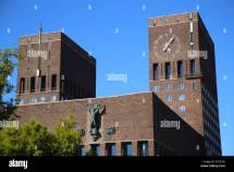 Oslo City Hall Building Landmark Stock &