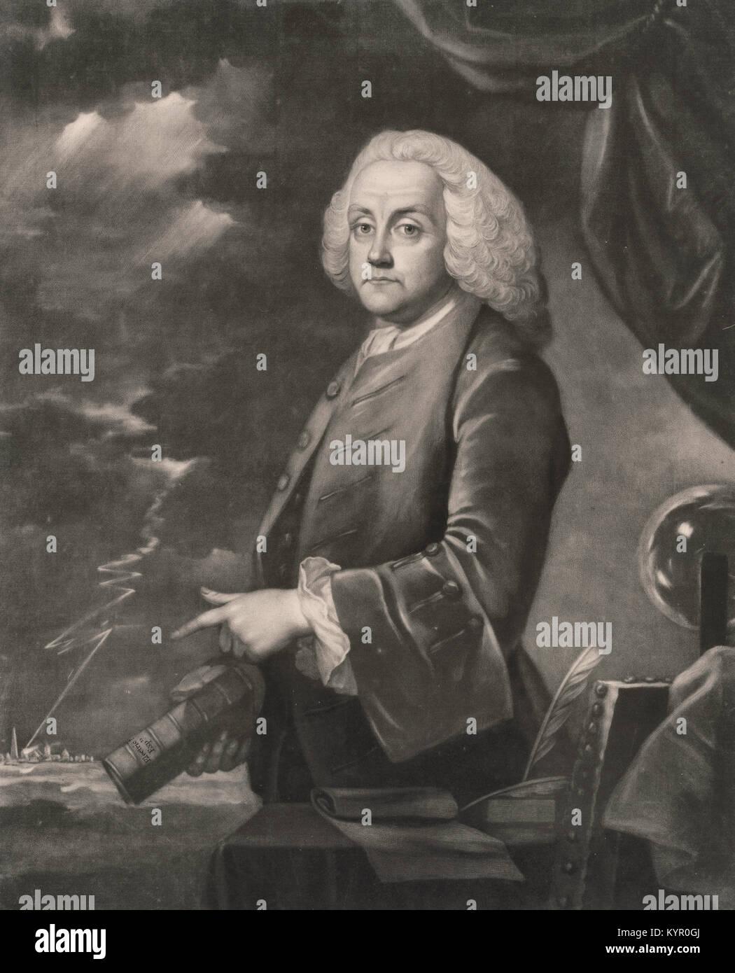 Benjamin Franklin Half Length Portrait Standing Facing