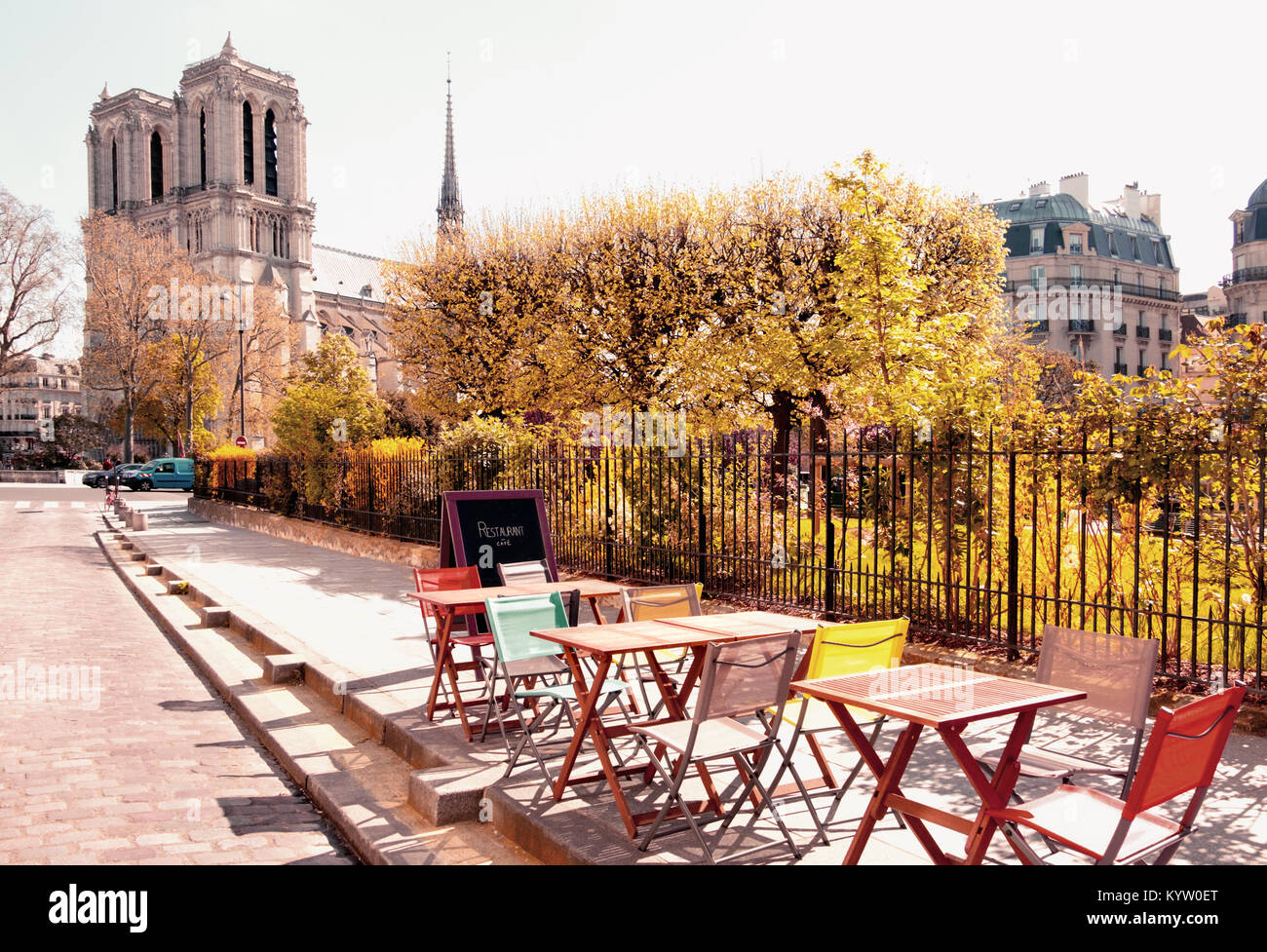 notre dame chair exercise ball office target paris cafe stock photos and