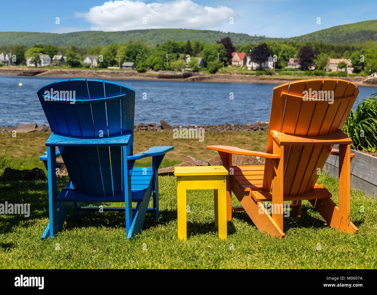 new river adirondack chairs chair step stool combo stock photos and