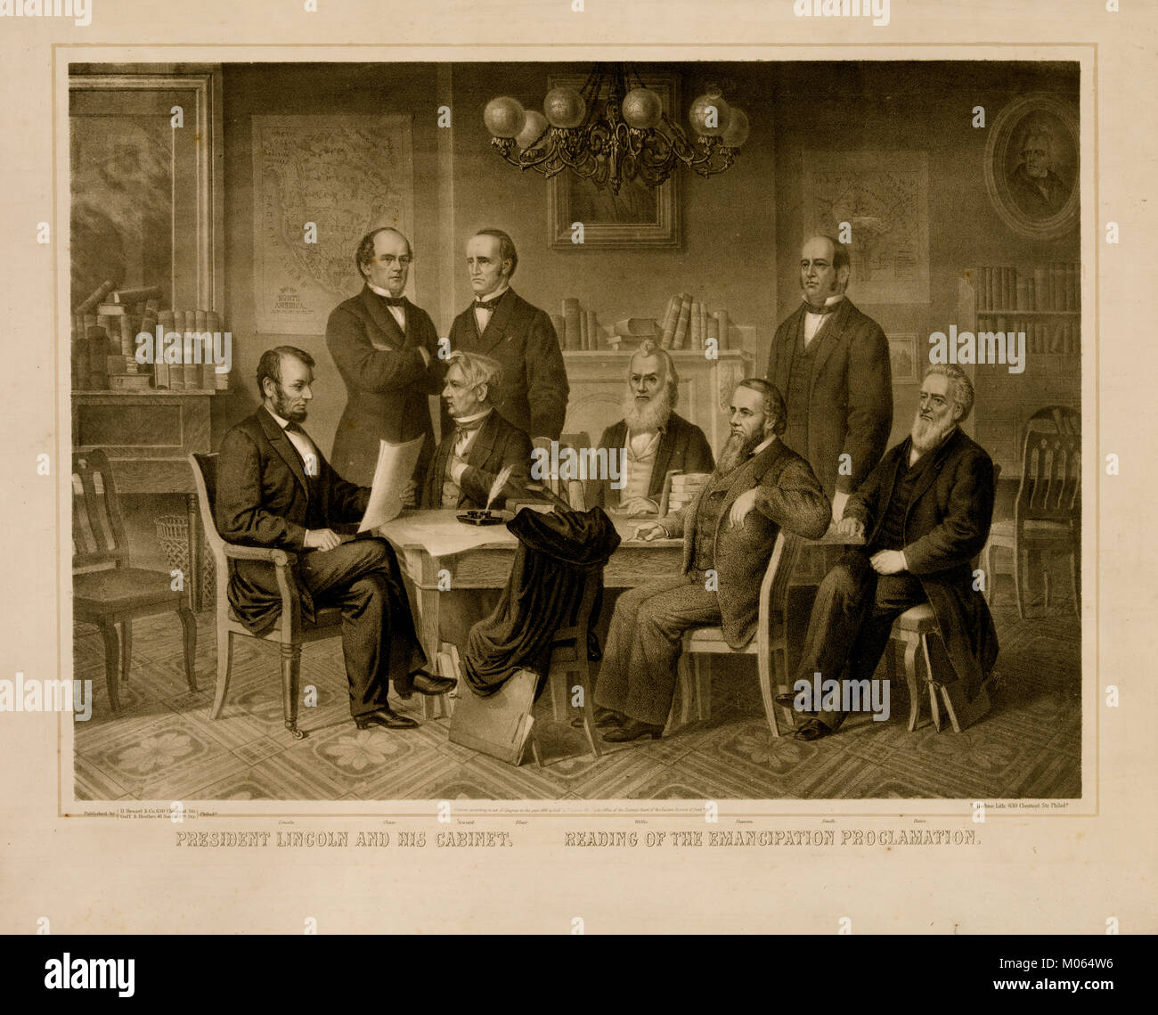 President Lincoln And His Cabinet Reading Of The