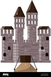 Medieval castle design Stock Vector Image & Art Alamy