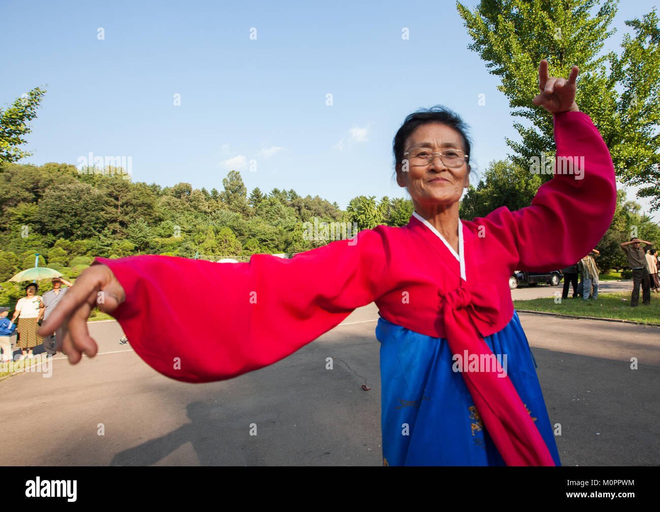 hight resolution of north korean having fun in a park on september 9 day of the foundation of the