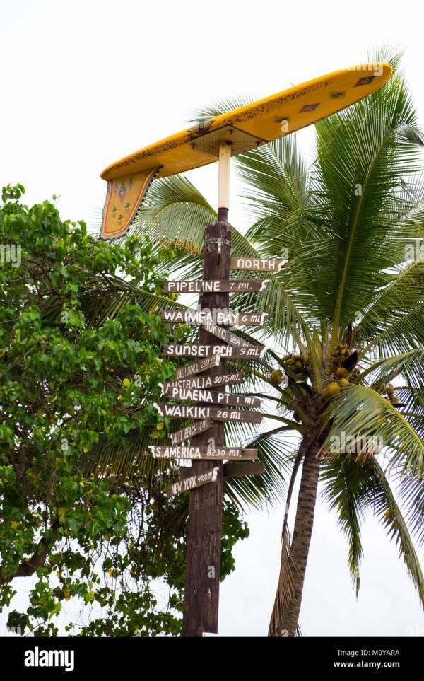 Oahu Hawaii Map Stock &