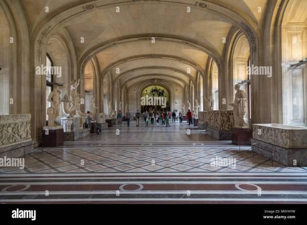 Museum Louvre Interior Stock &