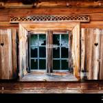 Old Window Shutter With Heart Rustic Wooden House Simple