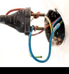 badly wired plug showing bad and wrong and dangerous connection stock image [ 1300 x 956 Pixel ]