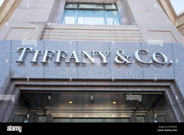 Tiffany Jewelry Store Sign Stock &