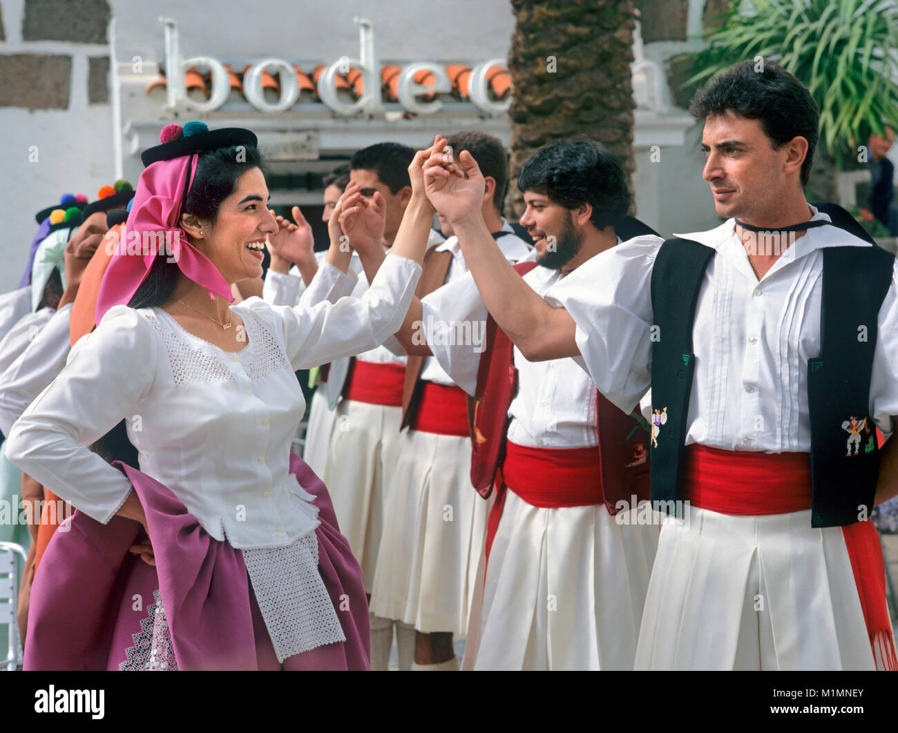 traditional canary islands dancers